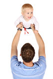 Dad with baby Royalty Free Stock Images