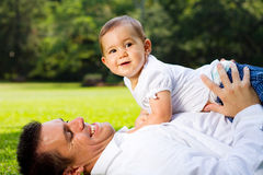 Dad and child Stock Photos