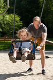 Dad with child on the playground Royalty Free Stock Photos