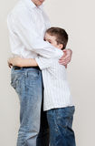 Dad comforts a sad child Royalty Free Stock Photo