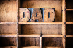 Dad Concept Wooden Letterpress Theme Royalty Free Stock Photography