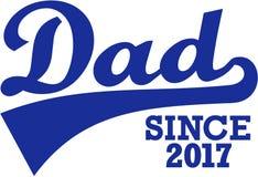 Dad since 2017. Slogan vector Stock Photos