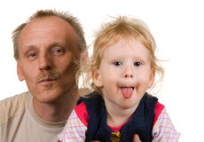 Dad and daughter Stock Images