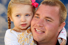 Dad and Daughter Royalty Free Stock Photography