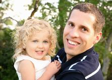 Dad and Daughter Stock Photography
