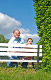 Dad and daughter. Happy family, dad and daughter  in the park Royalty Free Stock Photography