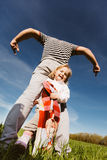 Dad and daughter having fun together Stock Image