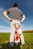 Dad and daughter having fun together Royalty Free Stock Photo