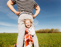 Dad and daughter having fun together Stock Photos
