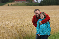 Dad with daughter outdoor Royalty Free Stock Photos