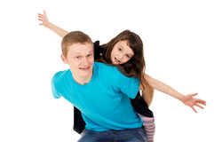 Dad and daughter play Stock Photography