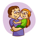 Dad and daughter smiling. Clipart Stock Images