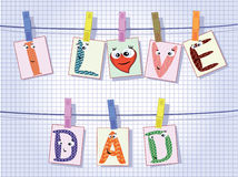 Dad day. Background to the dad day Royalty Free Stock Images