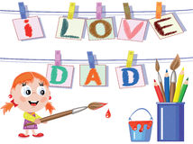 Dad day. Background to the dad day Royalty Free Stock Photo