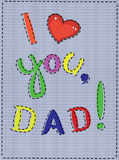 Dad day Royalty Free Stock Photos