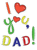 Dad day Royalty Free Stock Image