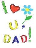 Dad day Royalty Free Stock Images