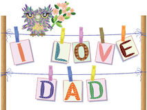 Dad day. Background to the dad day Stock Photos