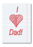 Dad day card Royalty Free Stock Photos