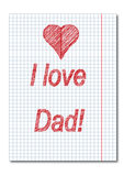 Dad day , card Royalty Free Stock Photos