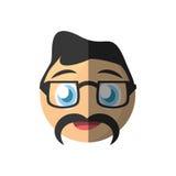 Dad emoticon cartoon design Royalty Free Stock Photo