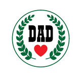 Dad fathers day crest. Graphic Stock Image