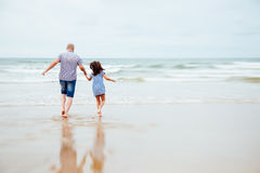 Dad feels like child with his daughter Royalty Free Stock Photo