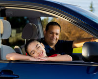 Dad Gets Ready To Drive Daughter To Practice Stock Photography