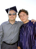 Dad and grad Royalty Free Stock Photos