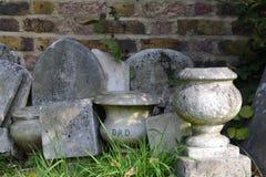 "Dad. Gray sepulchral vase with inscription ""Dad&#x22 Stock Photos"