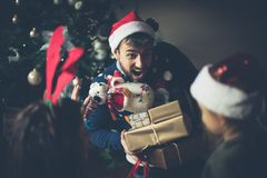 Dad has presents for you royalty free stock images