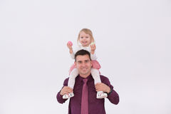 Dad and her daughter celebrate Easter Stock Photography