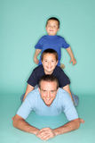Dad and his boys Stock Photography