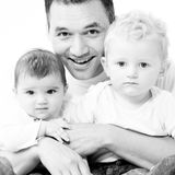 Dad with his children Stock Photos