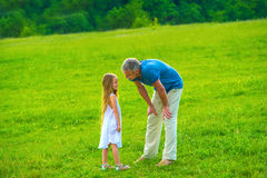 Dad with his daughter. Stock Image