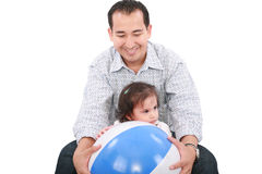 Dad with his daughter playing Royalty Free Stock Images