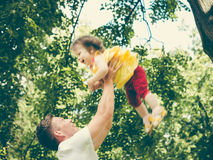 Dad and his little daughter having fun Royalty Free Stock Images