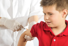 Dad I have a fear of needles Royalty Free Stock Image