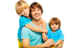 Dad with kids Stock Photos