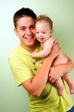 Dad and little baby boy Stock Photos