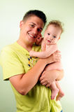 Dad and little baby boy Stock Photography