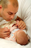 Dad and little baby girl Stock Photos