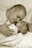 Dad and little baby girl Royalty Free Stock Photo