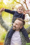 Dad with little boy Royalty Free Stock Image