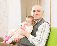 Dad and little daughter royalty free stock images