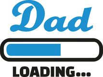 Dad loading bar. Family vector Stock Photography