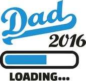 Dad 2016 Loading bar. Vector stock illustration