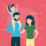 Dad mom and daughter. Vector illustration design royalty free illustration