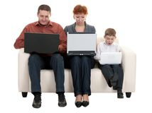 Dad mom and son Stock Photo