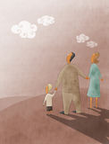 Dad, mom and son Royalty Free Stock Image